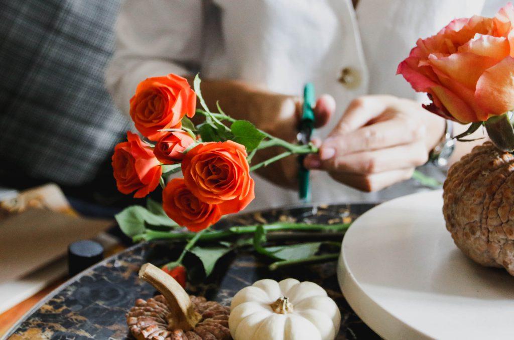 จัดดอกไม้ สร้างสรรค์